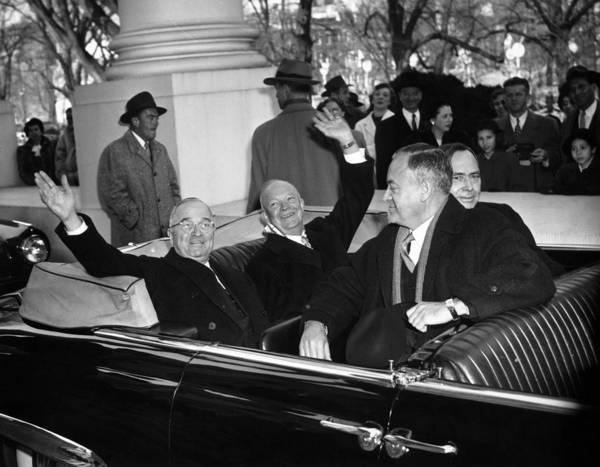 Photograph - Eisenhower Inauguration by Granger