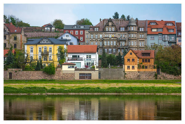 Photograph - Elbe River Town by Gene Norris