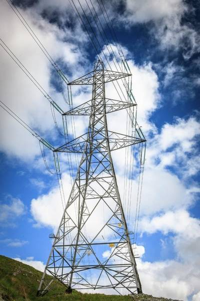 Wall Art - Photograph - Electricity Pylon by Gustoimages