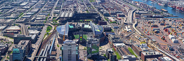 Safeco Field Photograph - Elevated View Of Centurylink Field by Panoramic Images