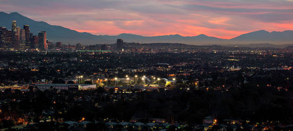 San Bernardino Photograph - Elevated View Of Downtown Los Angeles by Panoramic Images