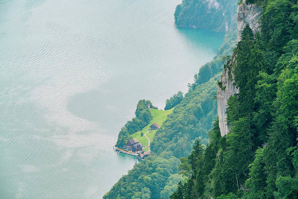 Wall Art - Photograph - Elevated†view†of†lucerne†lake by Tamboly Photodesign