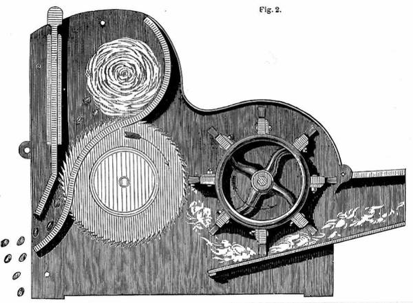 Cross Section Photograph - Elihu Whitney's Saw-gin by Universal History Archive/uig