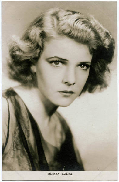 Leading Actress Wall Art - Photograph - Elissa Landi (1904 - 1948), Film by Mary Evans Picture Library