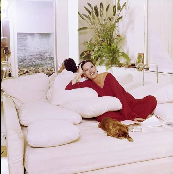 Wall Art - Photograph - Elsa Peretti Wearing Halston Pajamas by Horst P. Horst