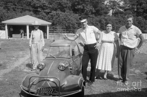 Wall Art - Photograph - Elvis And His Messerschmitt With Vernon And Gladys Presley 1956 by The Harrington Collection