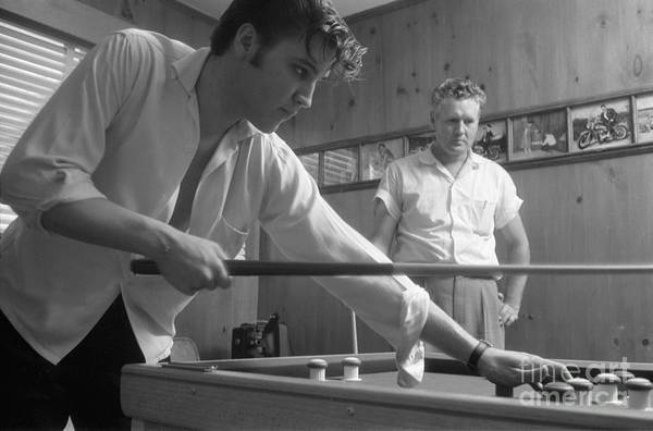 Wall Art - Photograph - Elvis Presley With His Father Vernon 1956 by The Harrington Collection