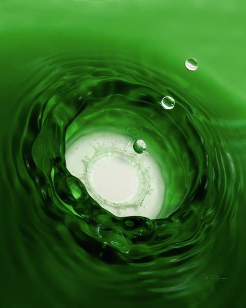 Photograph - Emerald Drops 8x10 by Vickie Szumigala