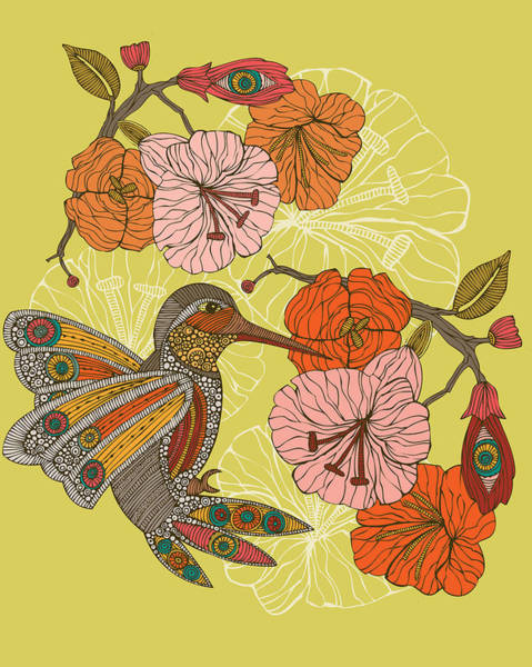 Digital Illustration Photograph - Emilia The Bird by Valentina