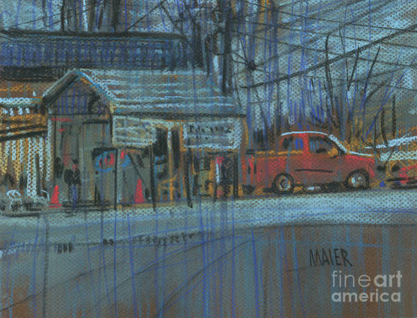 Auto Drawing - Emissions Testing by Donald Maier