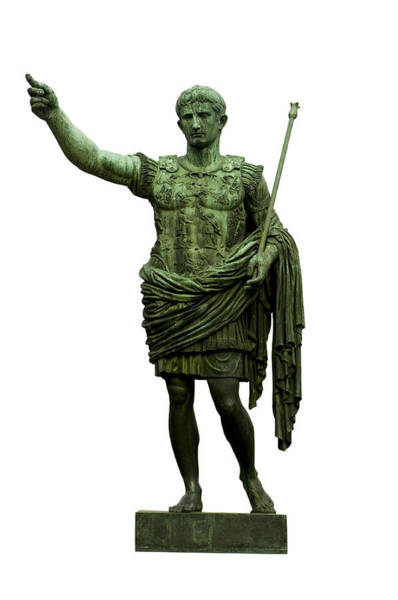 Cut-out Photograph - Emperor Caesar Augustus by Fabrizio Troiani