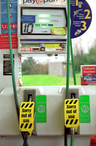 Pump Photograph - Empty Petrol Pump by Robert Brook/science Photo Library