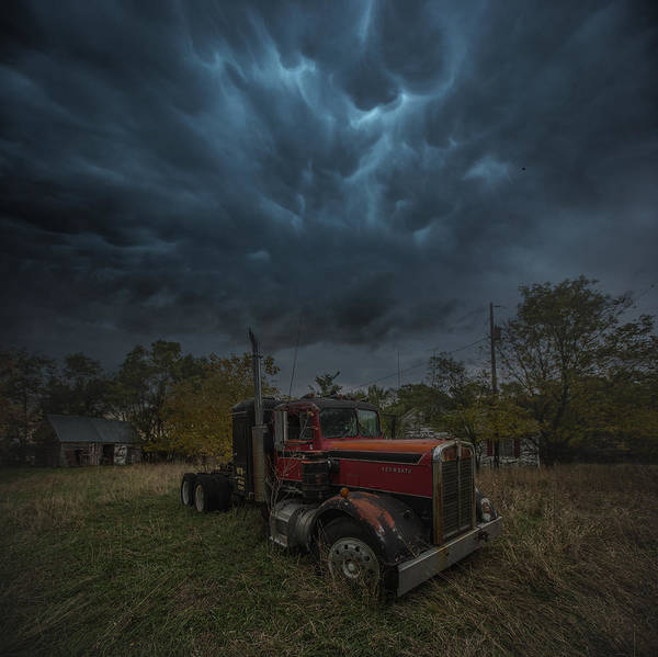 Semi Truck Photograph - End Of The Road by Aaron J Groen
