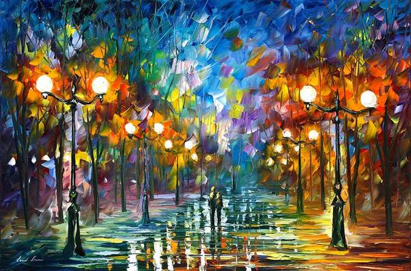 Wall Art - Painting - End Of Winter by Leonid Afremov