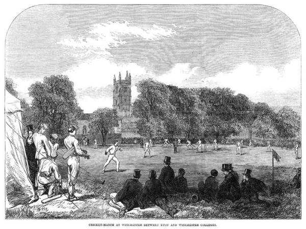 College Campus Painting - England Cricket, 1864 by Granger