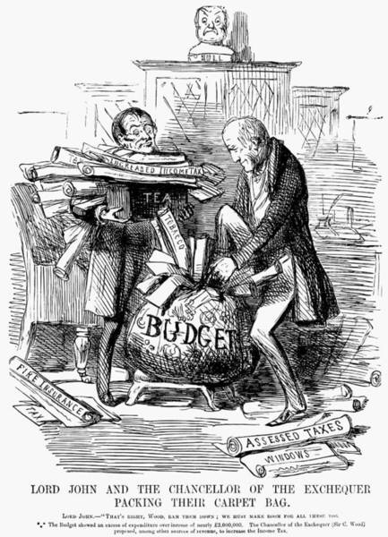 Painting - English Tax Cartoon, 1848 by Granger