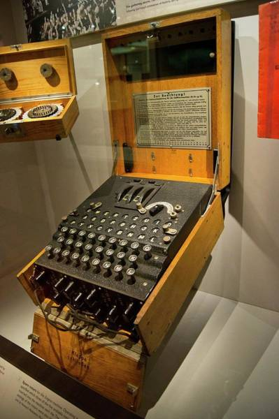 Rotor Photograph - Enigma Code Machine by Mark Williamson