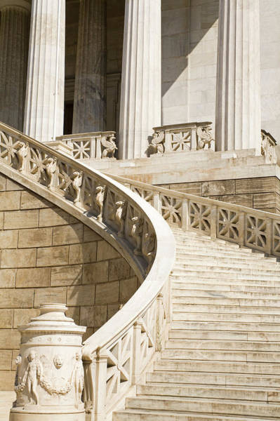 Greece Photograph - Entrance Stairs To National Library by Richard Cummins