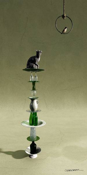 Playful Digital Art - Equilibrium IIi by Cynthia Decker