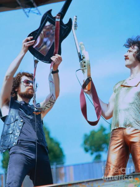 Wall Art - Photograph - Eric Bloom And Buck Dharma Of Blue Oyster Cult At Day On The Green In Oakland by Daniel Larsen