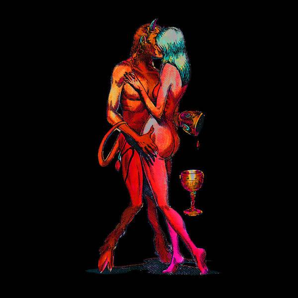 Sexuality Mixed Media - Erotic Art Mars And Venus In Scorpio by Magdalena Walulik