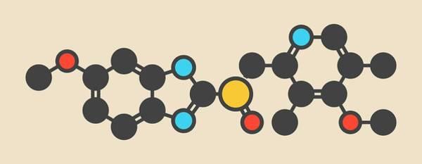 Proton Photograph - Esomeprazole Peptic Ulcer Drug Molecule by Molekuul