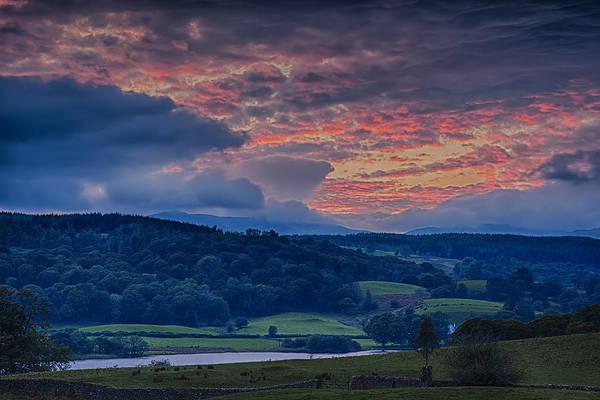Wall Art - Photograph - Esthwaite Water Sunset by Graham Moore