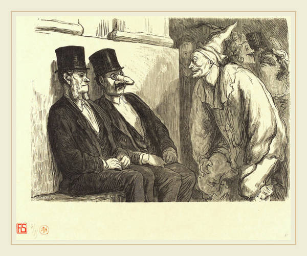 Amuse Drawing - Etienne After Honoré Daumier French, Active 19th Century by Litz Collection