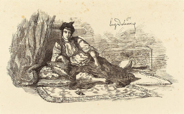 Wall Art - Drawing - Eugène Delacroix French, 1798 - 1863, Jewish Woman by Quint Lox