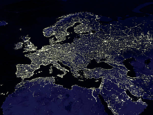 Wall Art - Photograph - Europe At Night by Nasa