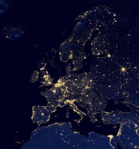 Photograph - Europe At Night, Satellite Image by Science Photo Library