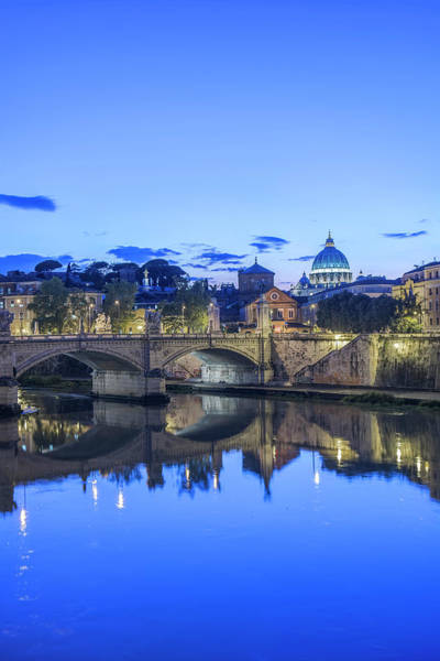 St Peters Basilica Photograph - Europe, Italy, Rome, Tiber River by Rob Tilley