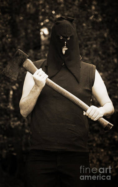 Nightime Photograph - Executioner With Axe by Jorgo Photography - Wall Art Gallery
