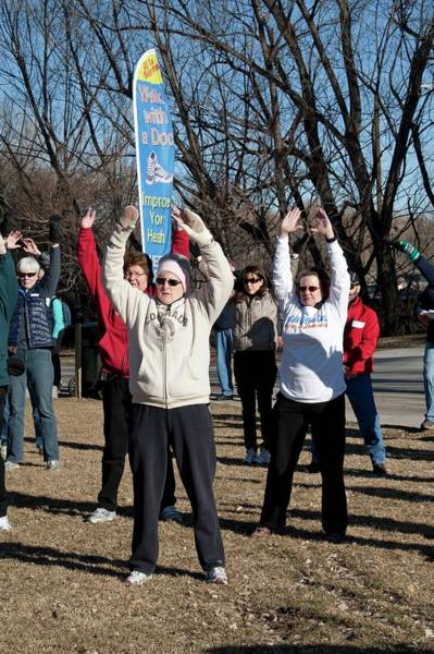 Workout Photograph - Exercising Healthcare Initiative by Jim West