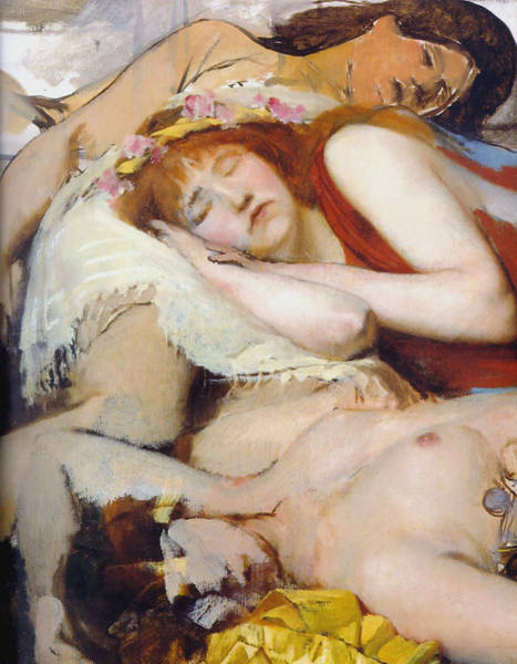 Exhaust Digital Art - Exhausted Maenides by Sir Lawrence Alma Tadema