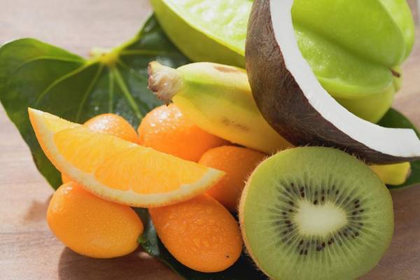 Wall Art - Photograph - Exotic Fruit, Citrus Fruit And Coconut by Foodcollection