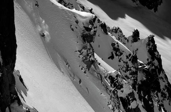 Wall Art - Photograph - Extreme Skier Going Fast In Beautiful by Patrik Lindqvist