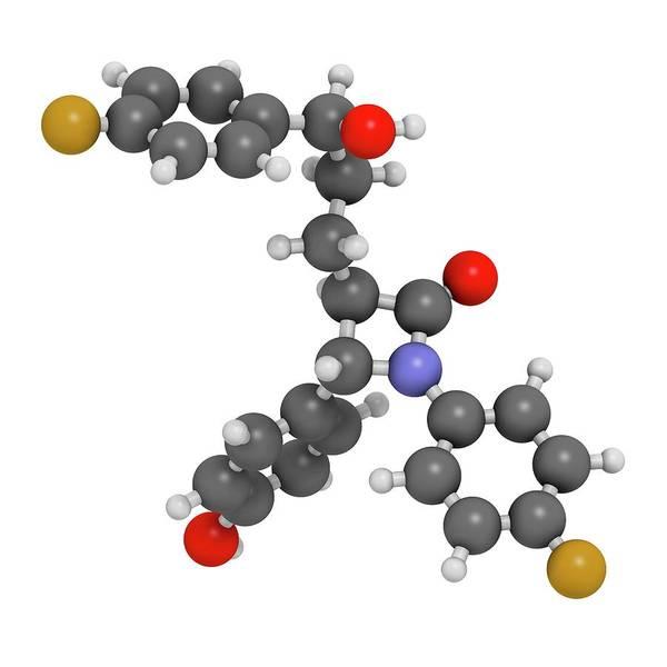 Cholesterol Photograph - Ezetimibe Cholesterol-lowering Drug by Molekuul