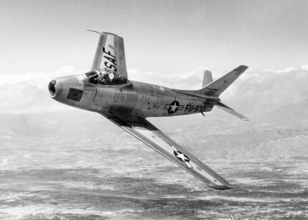 Wall Art - Photograph - F-86 Sabre, First Swept-wing Fighter by Science Source