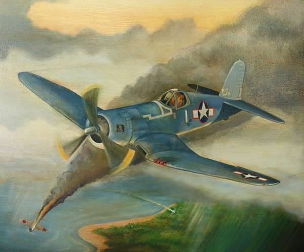 Corsair Painting - F4u Corsair by Stuart Swartz