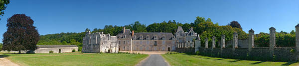 Chartreuse Photograph - Facade Of An Abbey, La Chartreuse Du by Panoramic Images