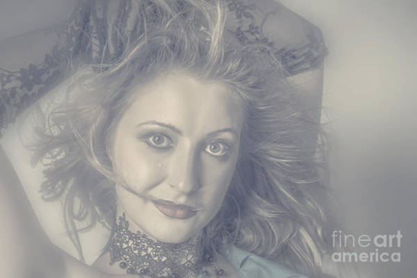 Photograph - Face Of Beautiful Woman In Makeup Close-up by Jorgo Photography - Wall Art Gallery