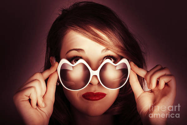 Photograph - Face Of Cool Fashion Woman In Retro Summer Love by Jorgo Photography - Wall Art Gallery