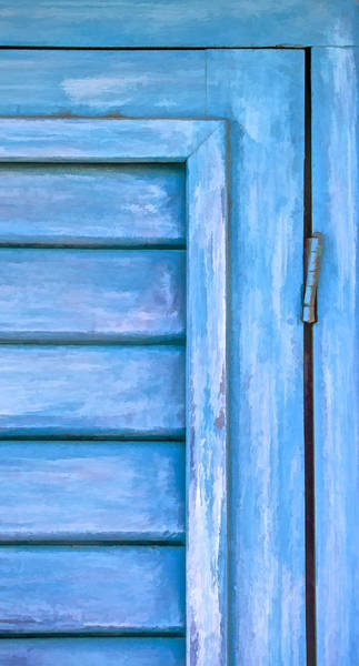 Photograph - Faded Blue Shutter IIi by David Letts