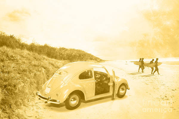Photograph - Faded Film Surfing Memories by Jorgo Photography - Wall Art Gallery