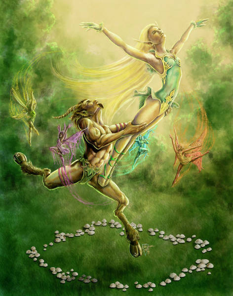Faerie Painting - Fairy Ballet by MGL Meiklejohn Graphics Licensing