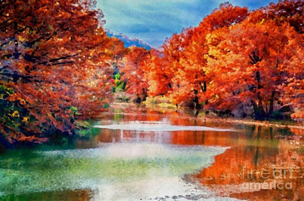 Photograph - Fall On The Guadalupe Wc by Ken Williams