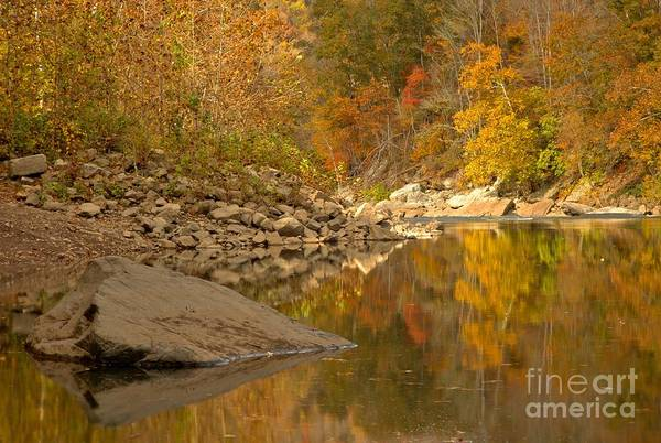 Photograph - Fall Reflections In The New River by Adam Jewell