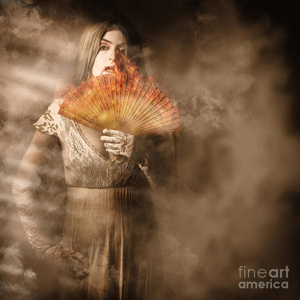 Wall Art - Photograph - Fantasy Fine Art Portrait. Elegant Vampire Woman by Jorgo Photography - Wall Art Gallery