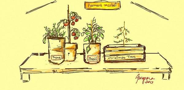 Digital Art - Farmer's Market Botanical Section by Patricia Awapara